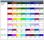 Excel's color palette explained